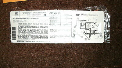 1984 Chevrolet 305 Engine Emissions Specs Decal Sticker Automatic Transmission