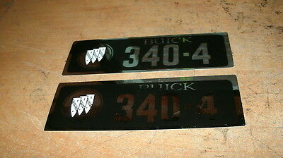 1965 1966 1967 Buick And Lesabre 340 4bbl 340 4v Valve Cover Decals Pair