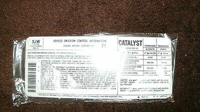 1984 Chevrolet 305 Engine Emissions Specs Decal Sticker Manual Transmission