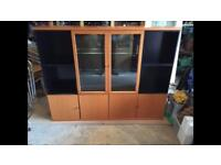 Wooden storage and display case, with integrated lighting. RRP £1640