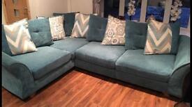 L Shape Corner Sofa and swivel chair