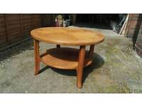 Nathan large teak coffee table for restoration