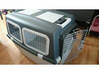Large dog transport crate