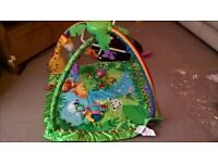 Fisher Price Rainforest light and music playmat/playgym