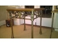 Occasional table solid wood/wrought iron