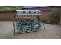 C1950 3 seater swing hammock metal framed and cover