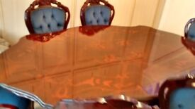 Italian style dining table 4 chairs 2 carvers