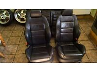 Mk4 GOLF Leather Heated Recaro Seats 3 with leather doorcards! Will fit, Leon, Cupra, VRS, A3