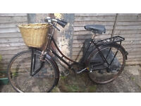vintage cycles of yesteryear ladies bike. Fashionable upright style and original 1930's features!!