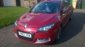 RENAULT MEGANE ESTATE TOURER GT-LINE ZERO ROAD TAX RED 1.5 SAT NAV REVERSE CAMERA FULLY LOADED