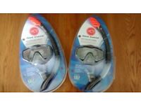 2 x adult HOT Tuna Snorkel and mask - used for 10 mins