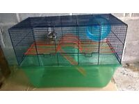 Gerbilarium, suitable for up to 4 gerbils. With food bowl and wheel: £15