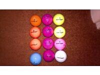 Dunlop Golf Balls (12 Balls - Different Colours)