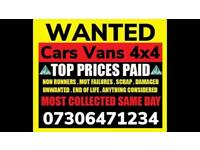 🇬🇧♻️ WE BUY CARS VANS CASH TODAY SELL MY ANY CONDITION WANTED SCRAP FAST COLLECTION HUTTON
