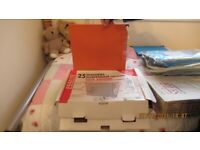 25 x A4 Orange suspension files - new - good condition - buyer to collect
