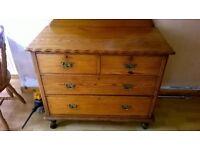 Small Antique Pine dresser/drawers