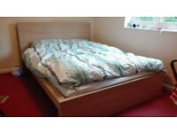 As-new ikea king size bed frame