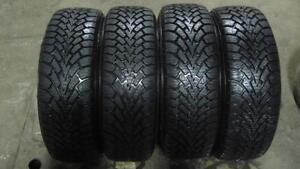 205/55R16 205 55 16, 98% TREAD GOODYEAR NORDIC WINTER TIRES WITH 5X114.3 STEEL RIMS