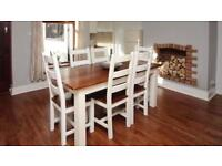 Parisian Style Shabby Chic Dining Table & 6 Chairs