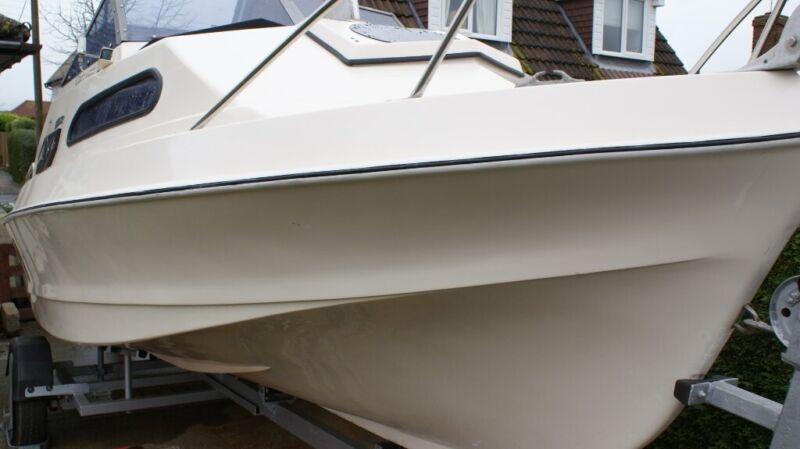 18ft Shetland Sunstrip Fishing Boat with Trailer & Yamaha 40HP 4 Stroke Long Shaft Engine for sale  Minster on Sea, Kent