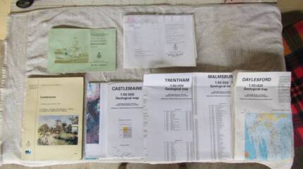 Books-Geological records of Victoria, Castlemaine, Ballarat