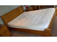 Pine King Size Bed, dressing table and stool and 2 side tables