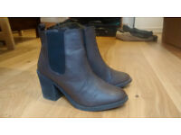 H&M Ankle Boots in dark brown
