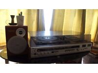 Record Player, Casette Player & Radio Binatone Viceroy Mark 11 Mk2 + 2 Phillips Speakers
