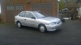 HYUNDAI ACCENT COUPE 1.3 AUTOMATIC, 12 months MOT, DRIVES LOVELY