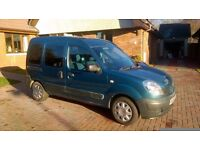 Wheelchair Accessible Vehicle, metallic blue, tinted windows, very clean, seats 3 plus wheelchair.