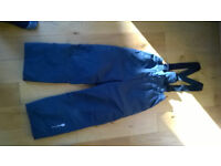Dare2be childrens ski/snowboarding salopettes age 7/8 years (height 127cm)