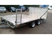 Heavy duty plant,car trailer 12x8 good condition beavertail and ramp