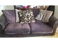 large 3 seater sofa plus a 2 seater sofa, undercounter fridge, undercounter freezer