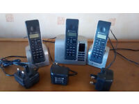Motorola 3x digital phones with answer machine