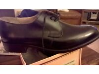 Barker's Hi Shine black leather brand new size 10.5 shoes