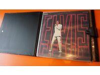 8 VINTAGE ELVIS PRESLEY VINYL LP'S IN RETRO VINTAGE CASE