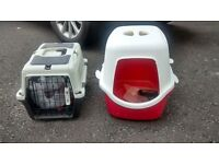 cat carrier and litter tray. Both in very good condition, hardly used. Can be sold separately.
