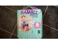 Bambo Nappy Boxes Size 6