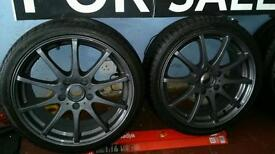 "17"" 5 stud German fitment alloys & mint tyres as new"
