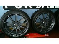 """17"""" 5 stud German fitment alloys & mint tyres as new"""