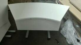 Curved flip top tables