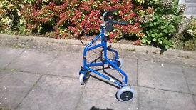 Tri Wheel Walker with Cable Brakes