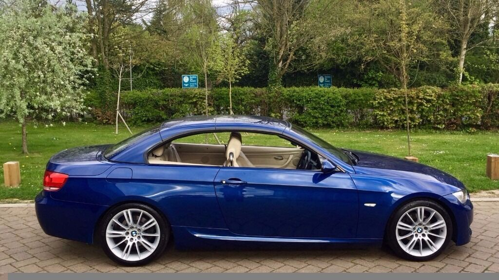 Bmw E93 320d M Sport Convertible Hardtop Le Mans Blue Sat Nav Manual 2008 In High Wycombe