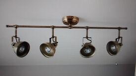 Antique Brass 4 Spot Kitchen Ceiling Light