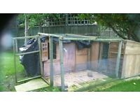 Chicken coop (wooden) and externally attached areas
