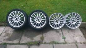 Ford focus st 170 alloys wheels 17inch 4 stud will fit focus, fiesta ect.