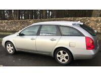 CHEAP NISSAN PRIMERA CAR/VAN 1.8L ESTATE (2003) full year mot