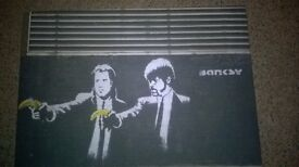 Banksy canvas (pulp fiction)