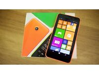 NOKIA LUMIA 630 ORANGE WINDOWS MOBILE PHONE - VIRTUALLY BRAND NEW (PLEASE READ DESCRIPTION)