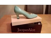 Jacques Vert Ladies Leather Shoes & Matching Clutch Bag - Excellent Condition Only Worn Once - £35
